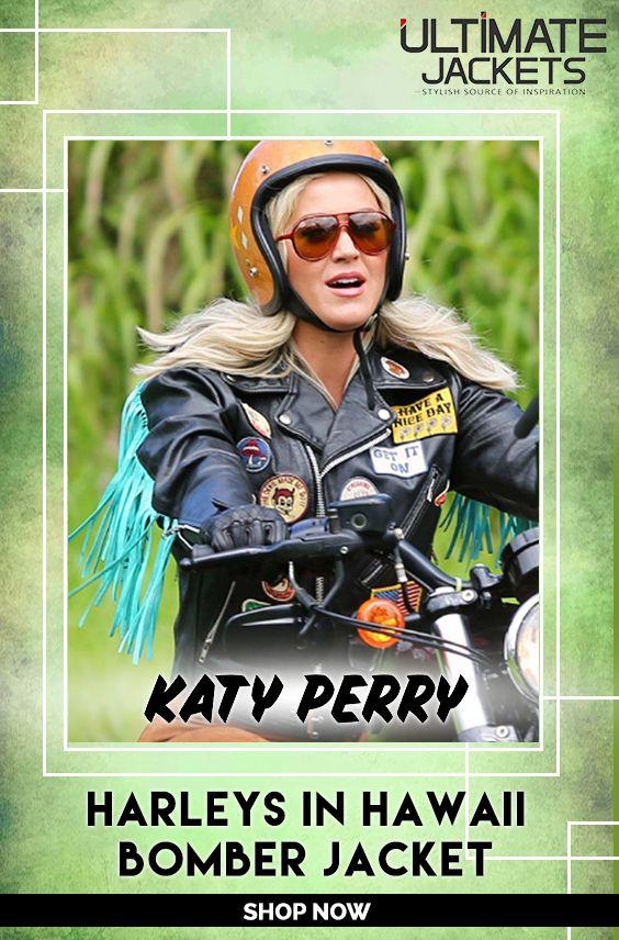 Katy Perry Harleys In Hawaii Bomber Jacket Katy Fringed Moto Jacket Bomber Jacket Katy Perry Harley