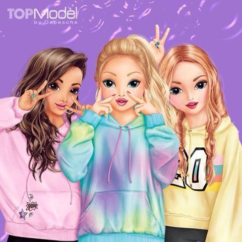 Topmodel By Depesche Topmodel De Instagram Foto S En Video S Kawaii Girl Drawings Cute Girl Drawing Best Friend Drawings