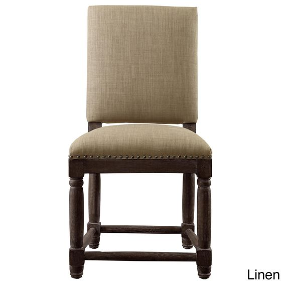 Nail head great deals and classy on pinterest - Sturdy dining room chairs ...