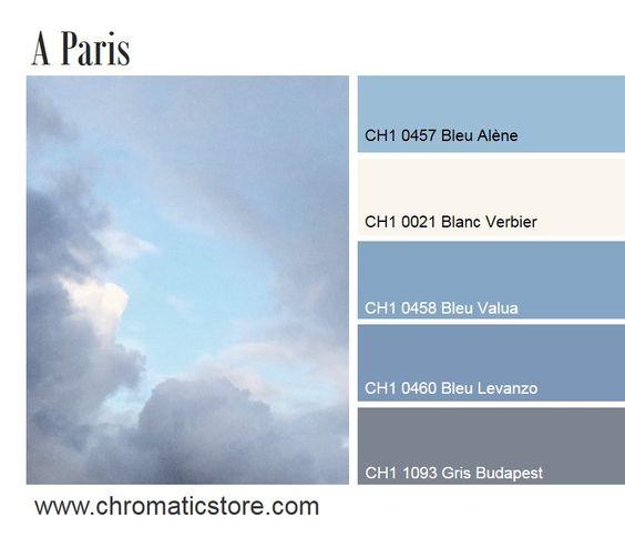 Id al pour une chambre coucher le bleu gris est une - Couleur complementaire gris ...