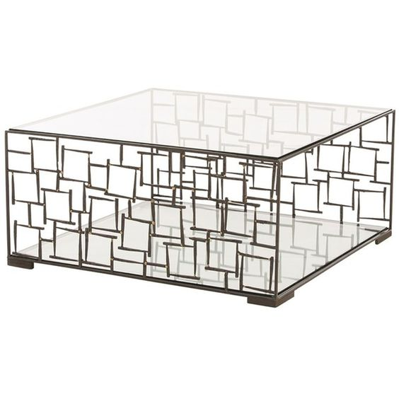 Arteriors Ecko Metal Cage Cocktail Table ($2,400) ❤ Liked On Polyvore  Featuring Home,