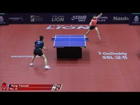 Feng Tianwei Vs Mu Zi Japan Open 2018 Japan Table Tennis Basketball Court