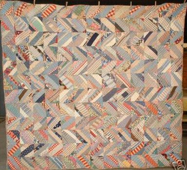 String Utility quilt, love the zig zag setting.