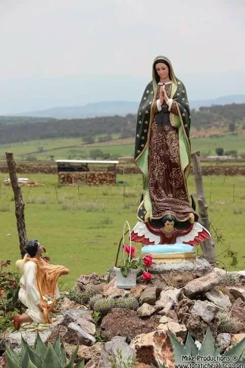 Hermisa imagen de la virgencita de Guadalupe