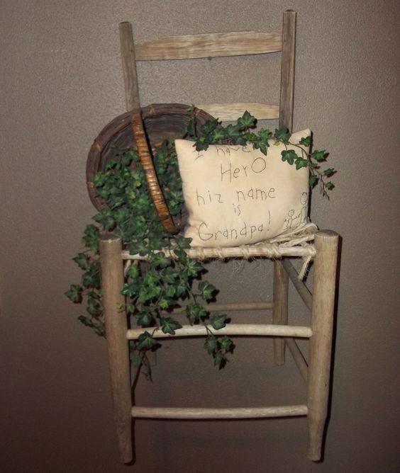 Antique Chair Hanging On Wall Old Chairs Pinterest Antiques Granddaughters And Chairs