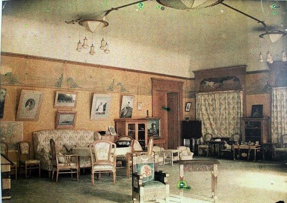 Tsarevich Alexei Nikolaevich Romanov of Russia's room at the Alexander Palace (colourised).A♥W