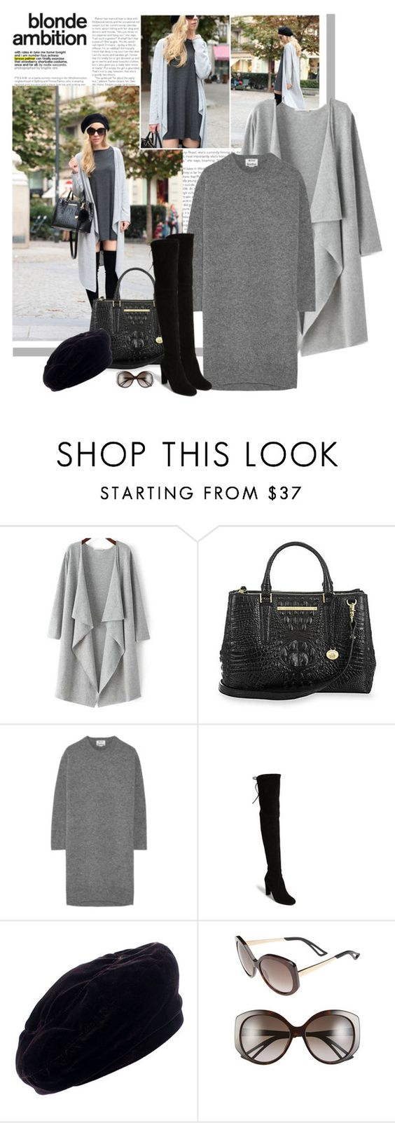 """""""LONG DUSTER CARDIGAN"""" by bodangela ❤ liked on Polyvore featuring Acne Studios, Stuart Weitzman, Yves Saint Laurent and Christian Dior"""