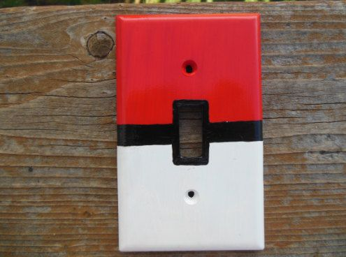 Pokémon Pokéball Light Switch Cover on Etsy, $8.00