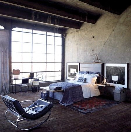 Industrial Interior Design, bedroom