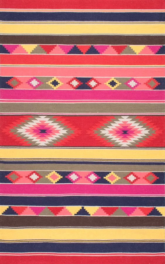 Get inspired with this Rugs USA Wichita FA01 Flatweave Wool Tribal Kilim Rug!