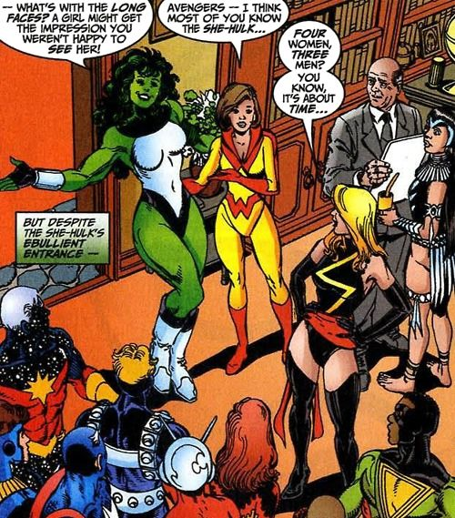 And Ms. Marvel will always call out the boys' club.