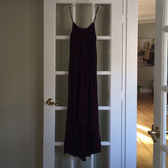 High low dress A maroon high low dress from cotton on. Adjustable straps and a cute back! Looks super great with wedges and a belt Cotton On Dresses High Low