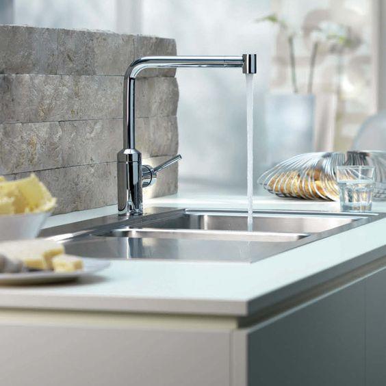 Kitchen:Modern Kitchen Island Image : Modern Kitchen Design White Ceramic Modern Kitchen Faucets Brushed Nickel Ultra Modern Kitchen Faucet ...