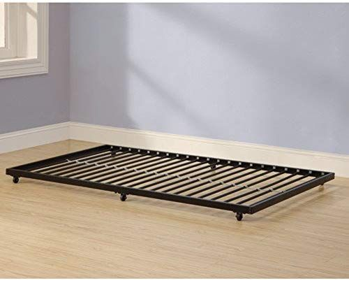 The Home Accent Furnishings Twin Roll Out Trundle Bed Frame Black