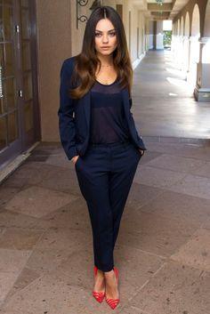 Navy Blue Dress Pants Women - work clothes - Pinterest - Blue ...