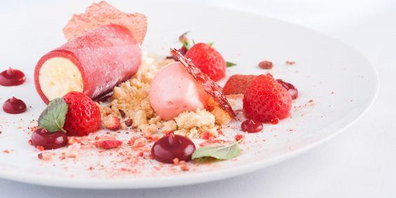 A delicious summer dessert recipe for a Strawberry and Vanilla Parfait from chef Matt Worswick.