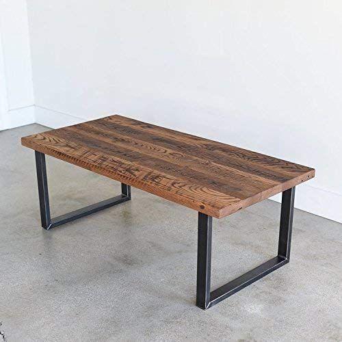 Reclaimed Wood Coffee Table Metal Legs Coffee Table Wood Coffee