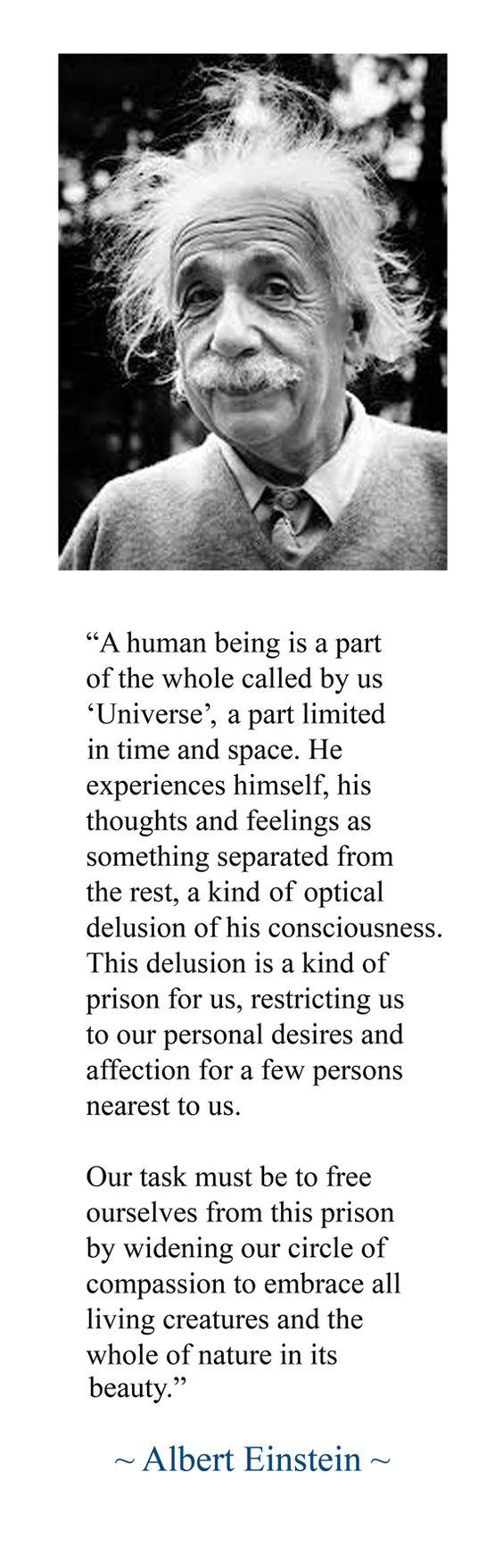 Albert Einstein...This Universe which is us.....