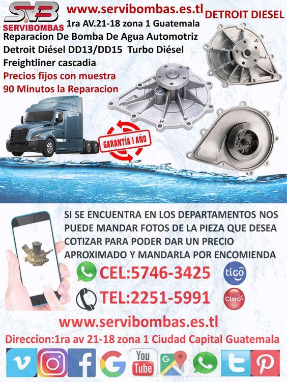 Pin On Reparación De Bomba De Agua Automotriz Detroit Diesel Guatemala