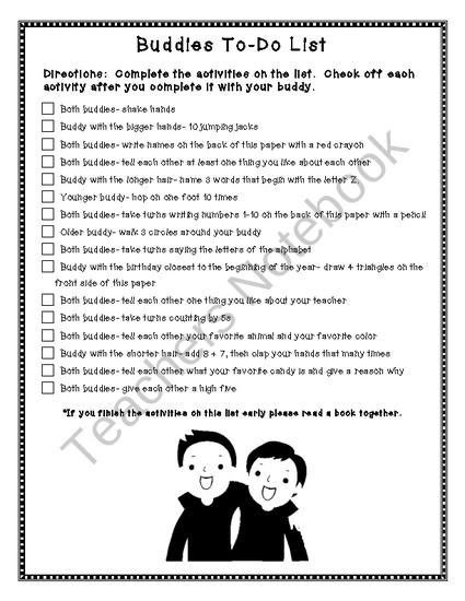 An easy buddies activity to use for olders and youngers to bond.  It's fun, hands-on, and interactive!