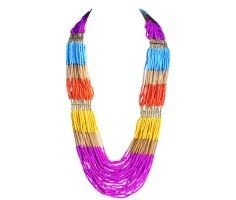Multi-Color Beading Necklace