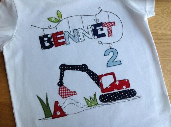 """Geburtstagsshirt """"Baggerfahrt"""" von tinybutton auf DaWanda.com"""