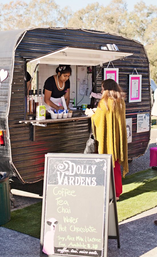 Vintage caravan cafe, Dolly Vardens