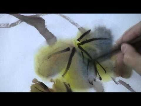 ▶ How to Paint Colorful Grape Vines - a Chinese Watercolor Tutorial - YouTube