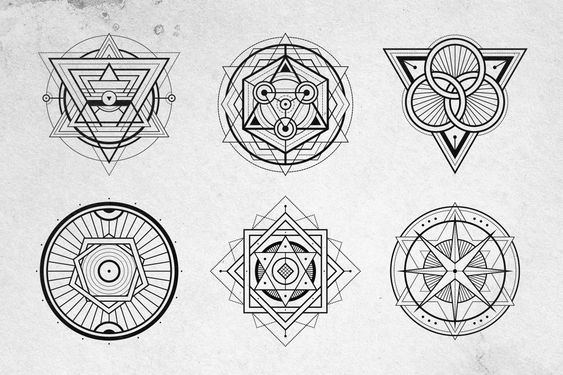 12 Sacred Geometry Vectors by Tugcu Design Co. on @creativemarket