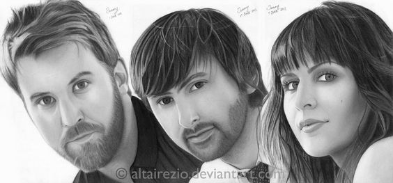 Lady Antebellum - Just A Kiss by altairezio on deviantART ~ traditional pencil art