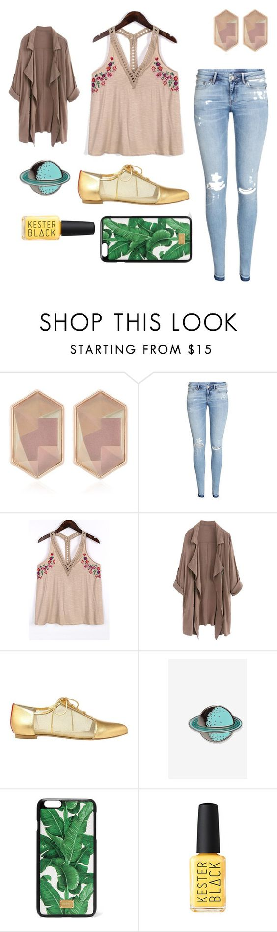 """In The Nude"" by dancingbulldog ❤ liked on Polyvore featuring Nocturne, H&M, Alepel, Big Bud Press, Dolce&Gabbana and Kester Black"