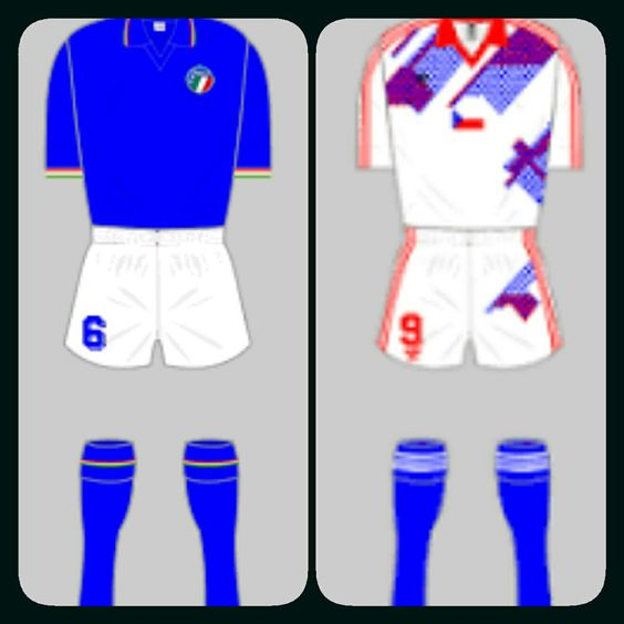 Italy 2 Czechoslovakia 0 in 1990 in Rome. Italy made it 3 wins from 3 games in Group A at the World Cup Finals.