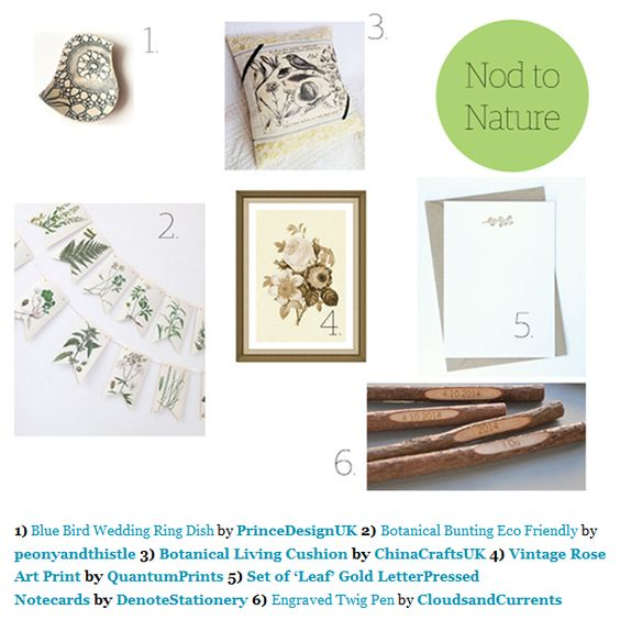 Get your inspiration from nature - with greens, whites and wood colours