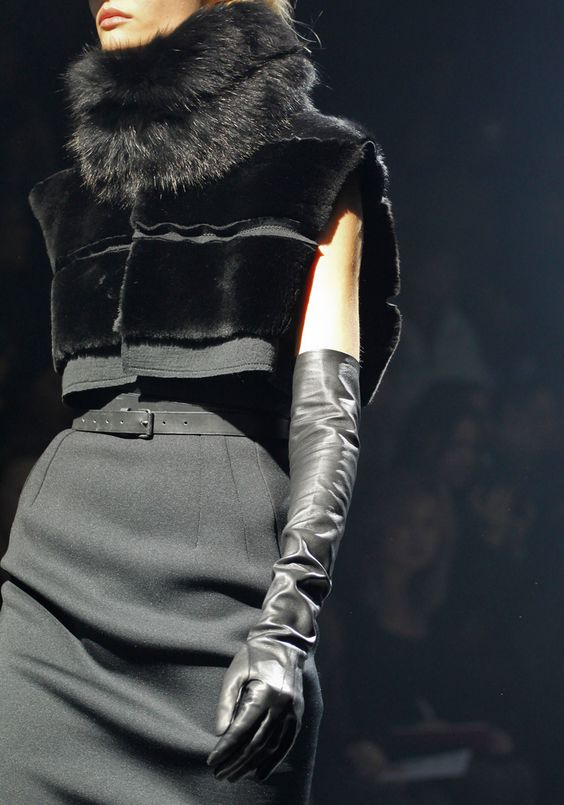 Lanvin Fall 2012 RTW (nice knock off would be ... velvet insets with high quality faux fur neck)