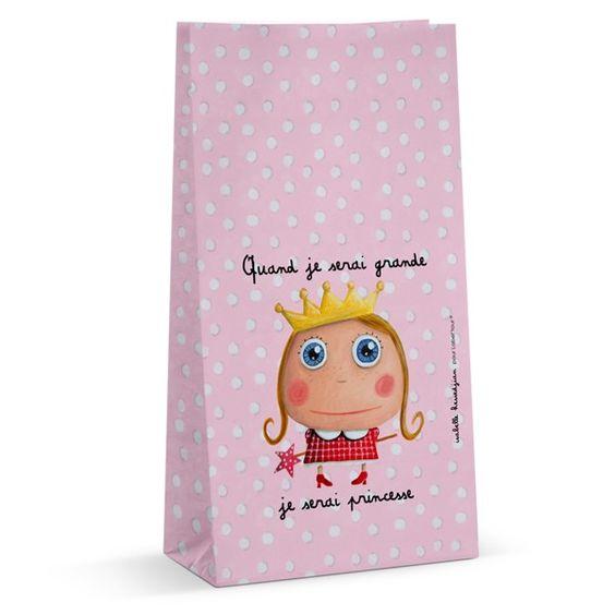 6 sachets à bonbons Princesse