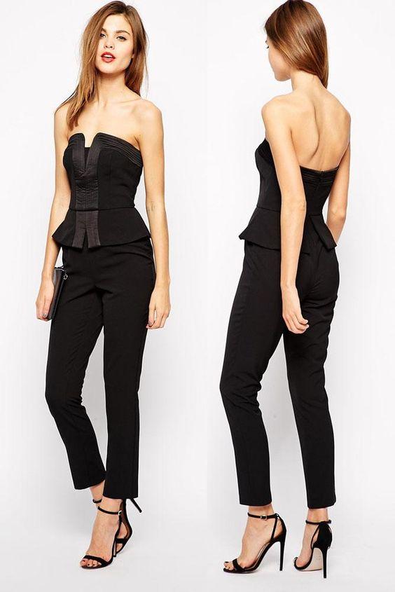 New Long Romper Women Formal Jumpsuit Elegant Combinaison ...