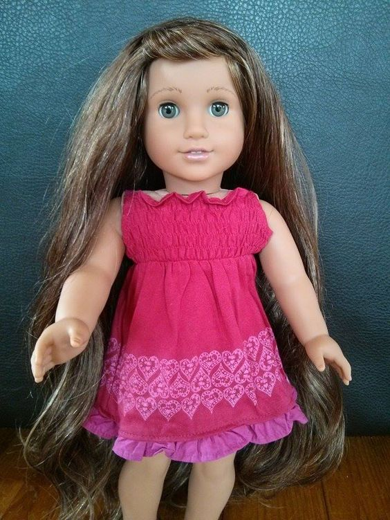 custom american girl Josefina with Ruthie grey eyes, face repaint and rewig https://www.facebook.com/ZazouDolls
