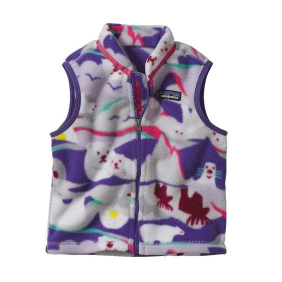 Patagonia Baby Synchilla\u00AE Fleece Vest - Polar Play: Tundra Purple PTNP