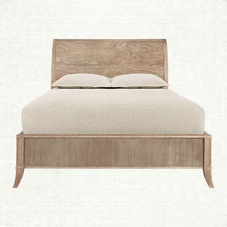 Panel bed beds and queen on pinterest for Bedroom furniture without bed