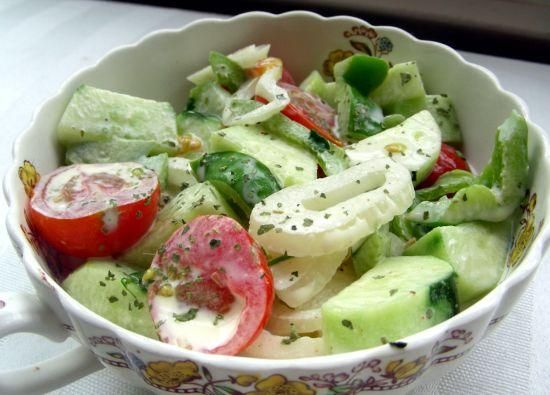Creamy Cucumber #Salad #Recipe