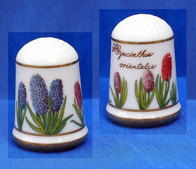 Franklin Porcelain Flowers of Holland Thimble Hyacinth | eBay