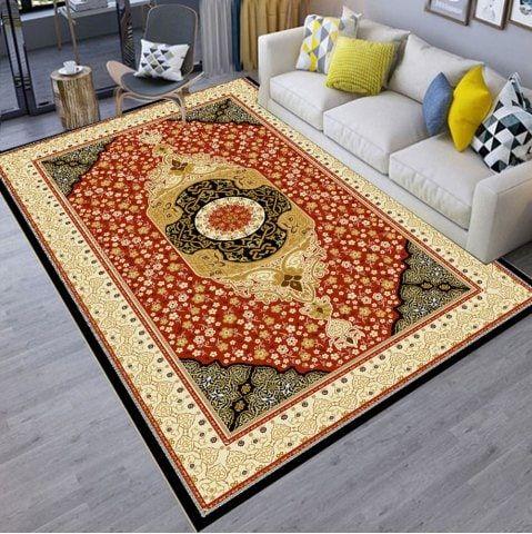 European Style Floor Mat Printing For Living Room Floor Mat Deep