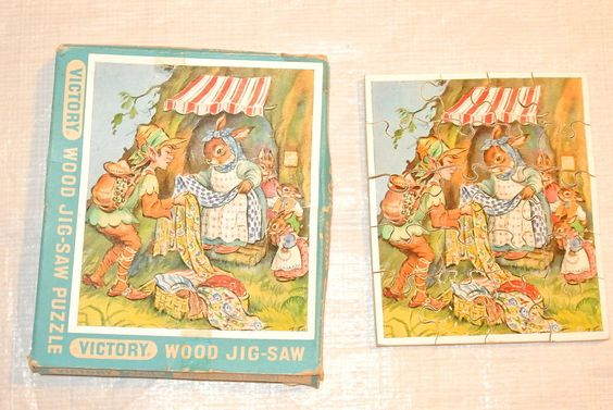 Victory Wooden Children's  Jig Saw  Puzzle with Original Box