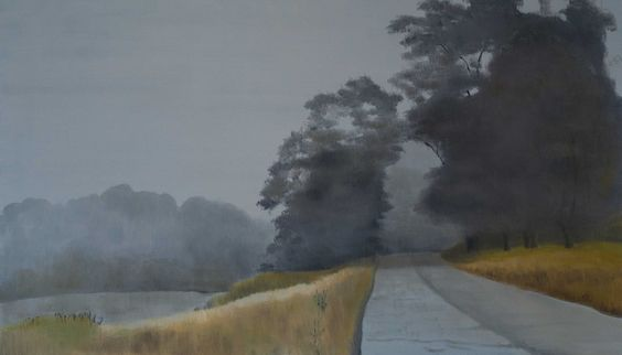 "Judith Vivell, ""River Road,"" oil on canvas, 36 x 60"