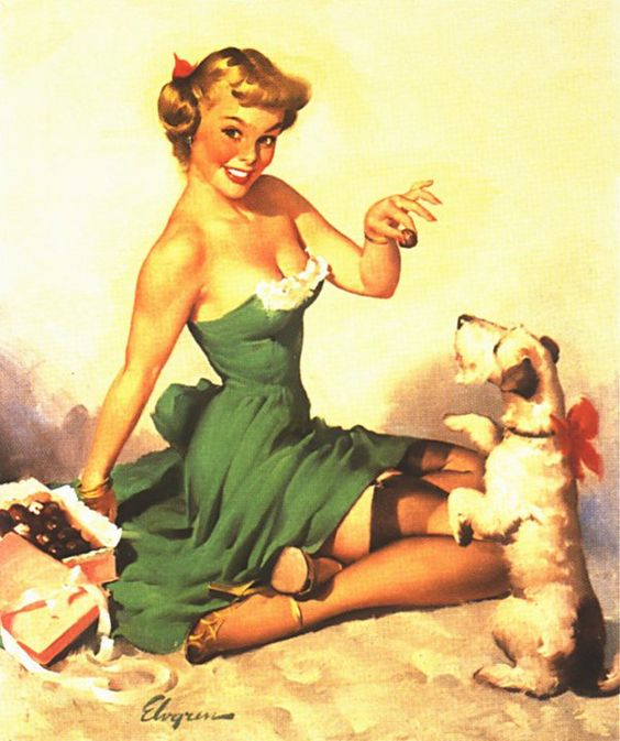 Gil Elvgren. Christmas Candies for Pin up and Pup. | Style ...