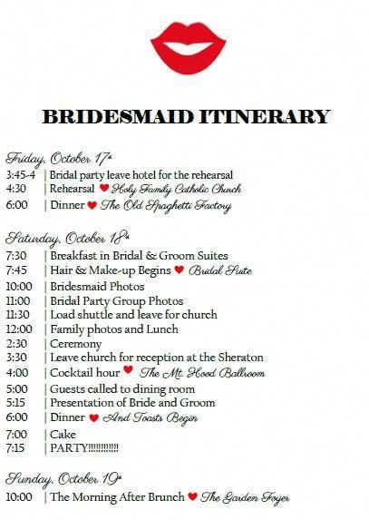 Bridal Party Itinerary Wedding Weekend Itinerary Wedding Timeline Wedding Activities Schedul Wedding Weekend Itinerary Wedding Weekend Wedding Activities