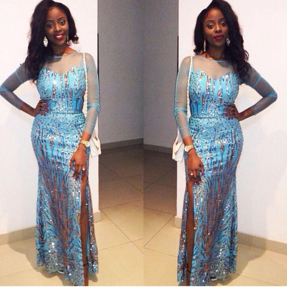 Trending French Lace Dress Styles At Nigerian Parties: