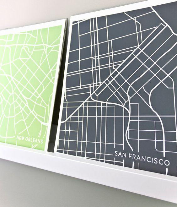 jennasuemaps: Art Dig, City Maps, Abstract Art, Map Idea