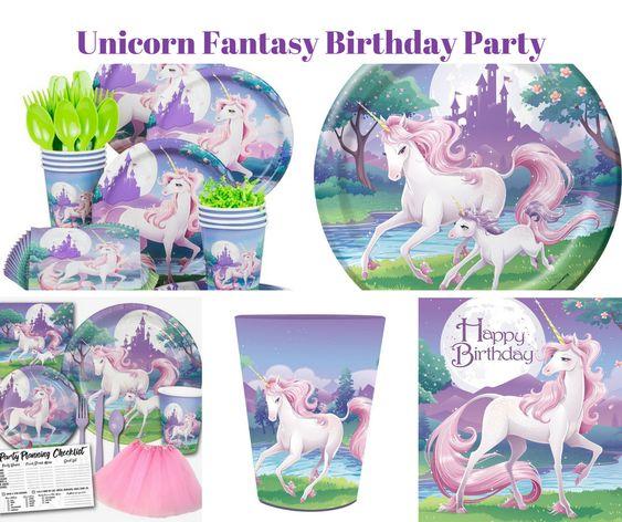 Unicorn Fantasy Birthday Party