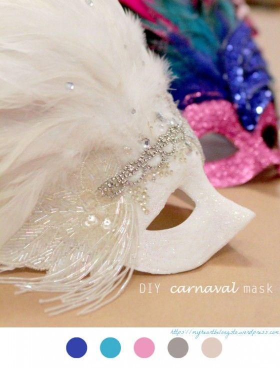 Masques De Carnaval - carnaval - diy - mask - masque de carnaval - Tuto - tutoriel - Venise -